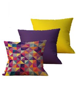 Kit com 3 Almofadas decorativas Geo MultiColor - 45x45 - by #1 AtHome Loja