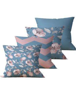 Kit com 4 Almofadas Decorativas Flor Essence - 45x45 - by #1 AtHome Loja