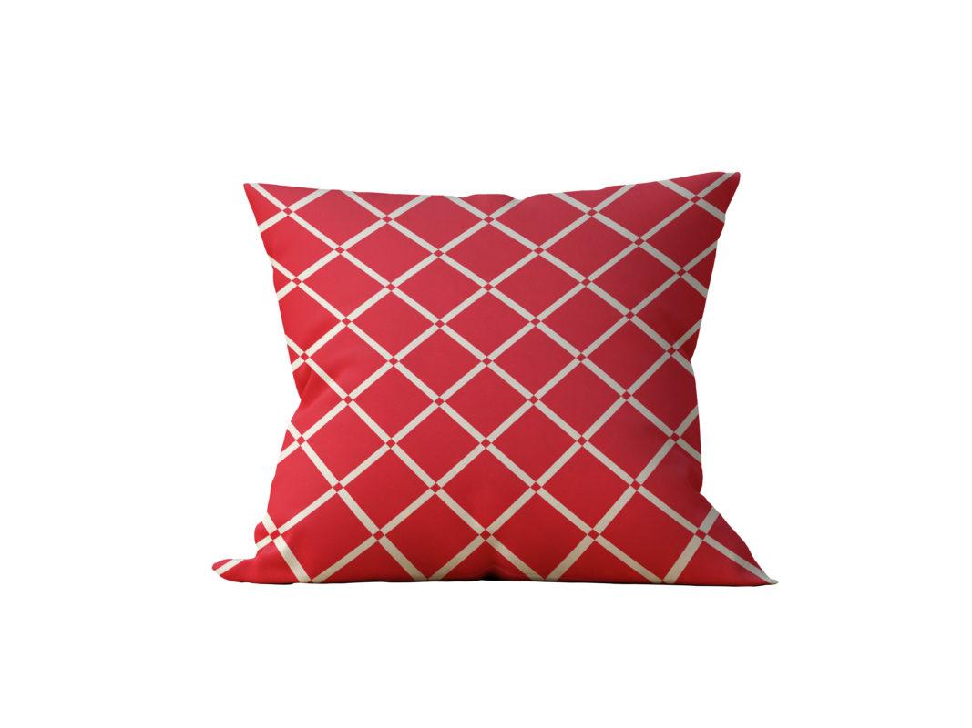 Almofada Decorativa Vermelha Triangular - 45x45