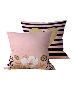Kit com 2 Almofadas Decorativas Rose Flower Neo - 45x45