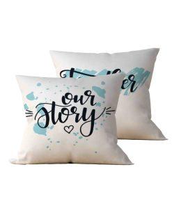 Kit: 2 Almofadas Decorativas Our Story Together - 45x45
