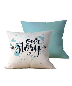 Kit: 2 Almofadas Decorativas Our Story - 45x45