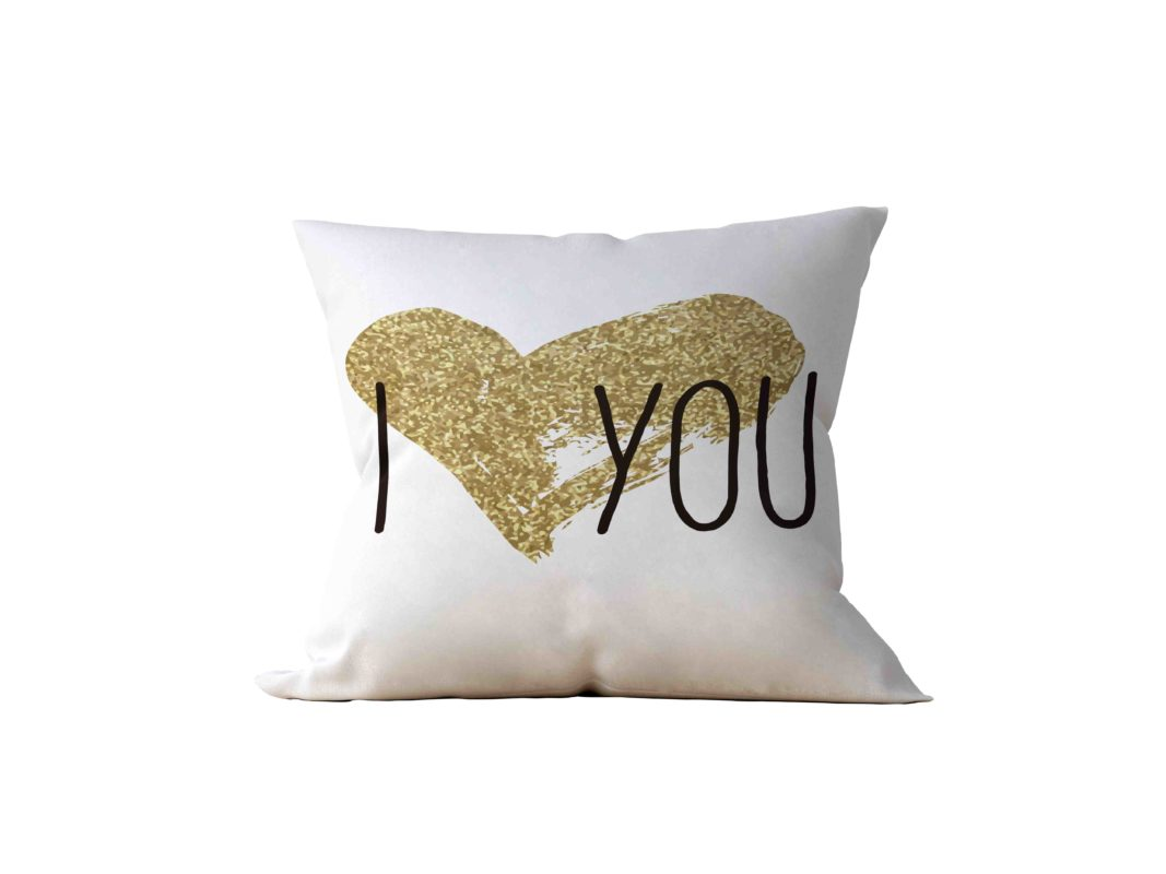 Almofada Decorativa I Love You - 45x45