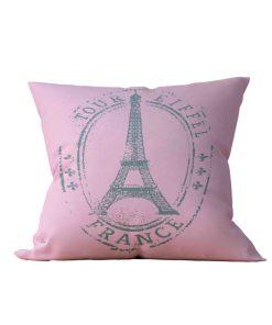 Almofada Decorativa Eiffel Rose - 45x45