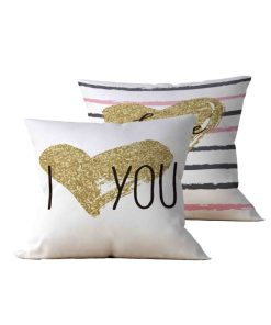 Kit: 2 Almofadas Decorativas I Love You - 45x45