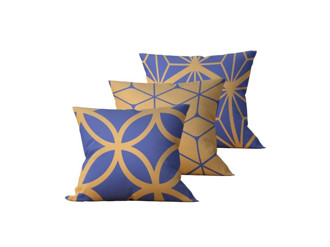 Kit: 3 Almofadas Decorativas Mech - 45x45