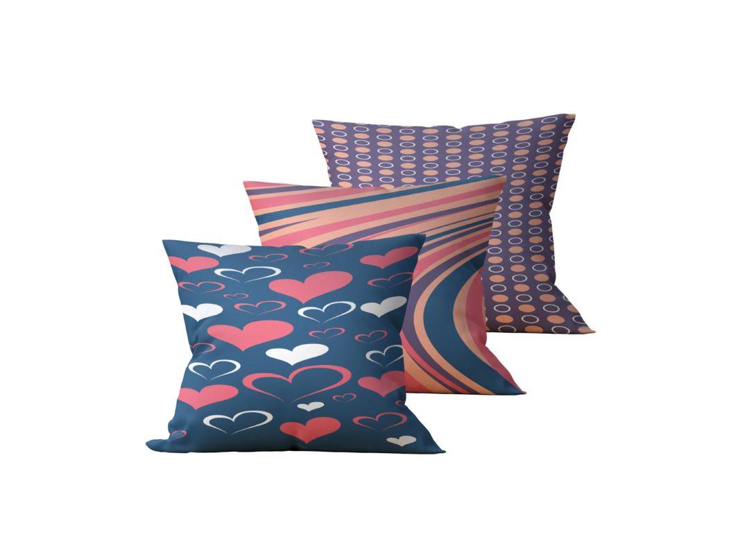 Kit: 3 Almofadas Decorativas Gift - 45x45