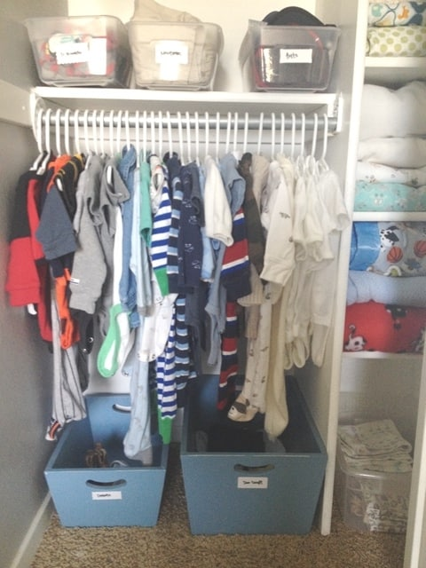 The best way to organize your baby 39 s closet at home with - Clothes storage ideas for small spaces ...