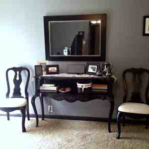 Living room house tour. My decor how it is now- couch, window, pillows, layout, grey paint color, mirror, and carpet
