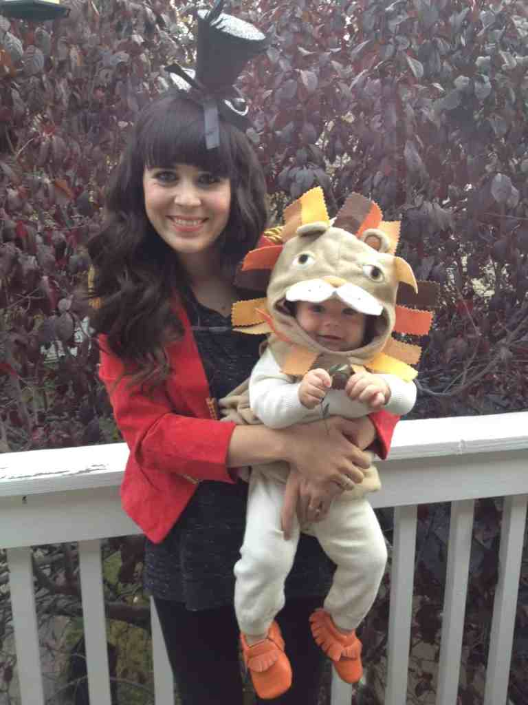 circus costume- ring leader and lion Halloween at home with ashley