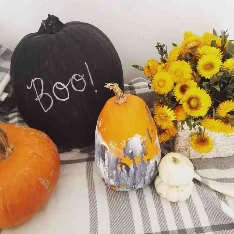 Halloween pumpkins- how to decorate with a baby athomewithashley