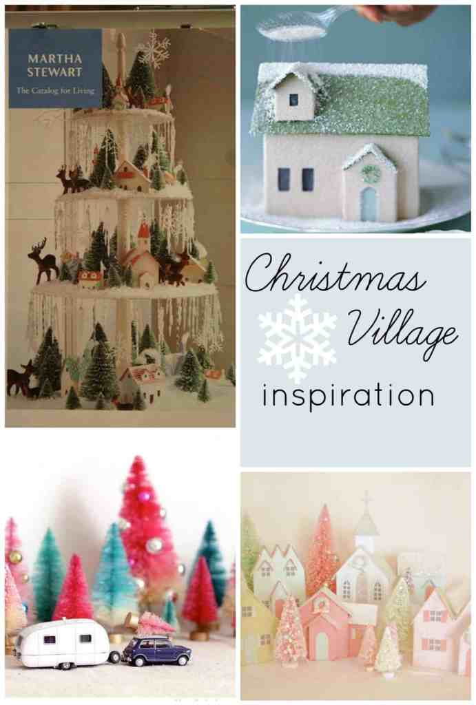 Christmas Village Inspiration for a kid-friendly village on a budget