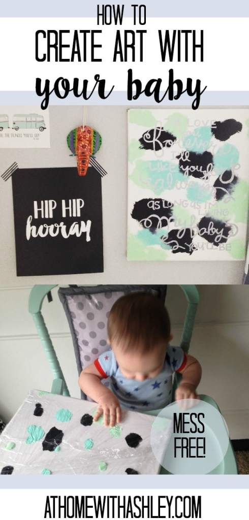 how to create art with your baby- easy, mess free and cute. Baby art project. Ideas for activities and craft projects for infants #art #baby #homedecor