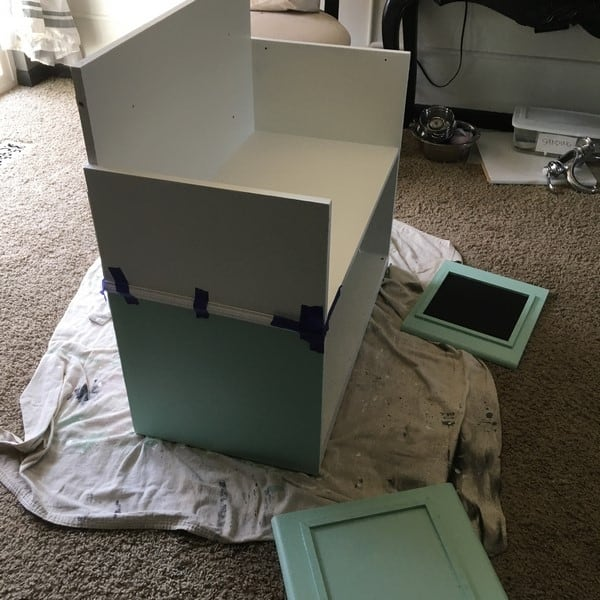 how to make a play kitchen from an entertainment center (23)