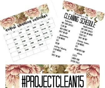 free printable august cleaning calendar and cleaning schedule