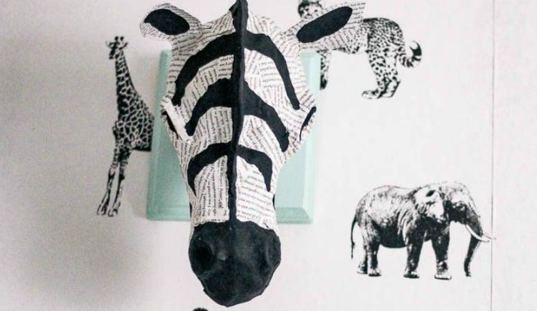 DIY Zebra Head
