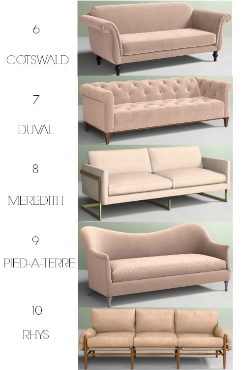 The Ultimate Blush Pink Sofa Roundup. Do You Need A Living Room Couch In The