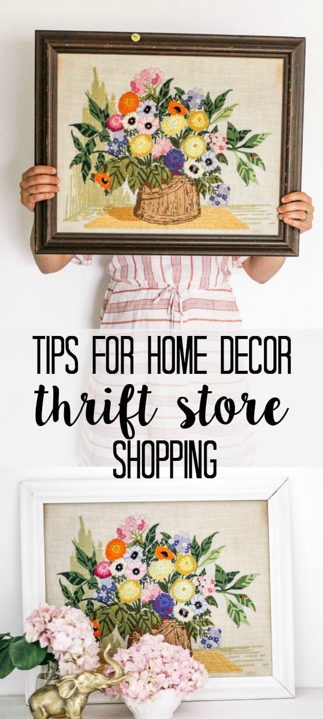 Thrift Store Home Decor Shopping Tips