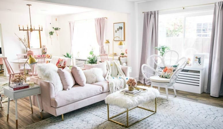 How to decorate with pink and keep your partner happy