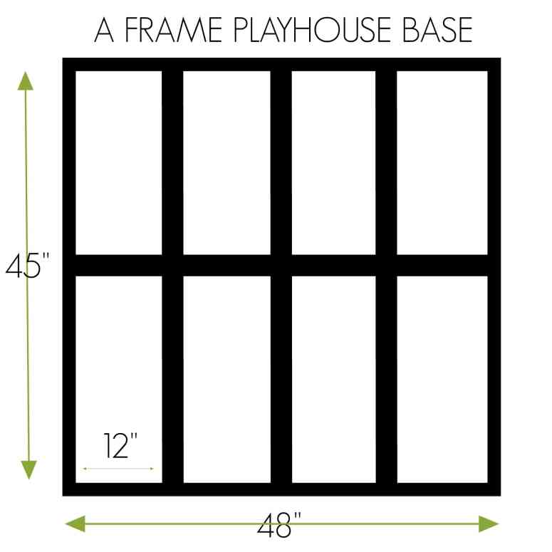 DIY A-Frame Play House - at home with Ashley on amish barn plans, two-story tiny house, play pirate ship plans, 2 story garage addition plans, 2 story garage apartments plans, two-story garage, storage shed design plans, jungle gym plans, storage shed with loft floor plans, two-story gazebo plans, two-story library plans, two-story shed lowe's, mini cabin plans, 2 story open floor plans, two-story workshop plans, loft bed with stairs plans, two-story office plans, building plans, caboose cabin plans, two-story storage shed plans,