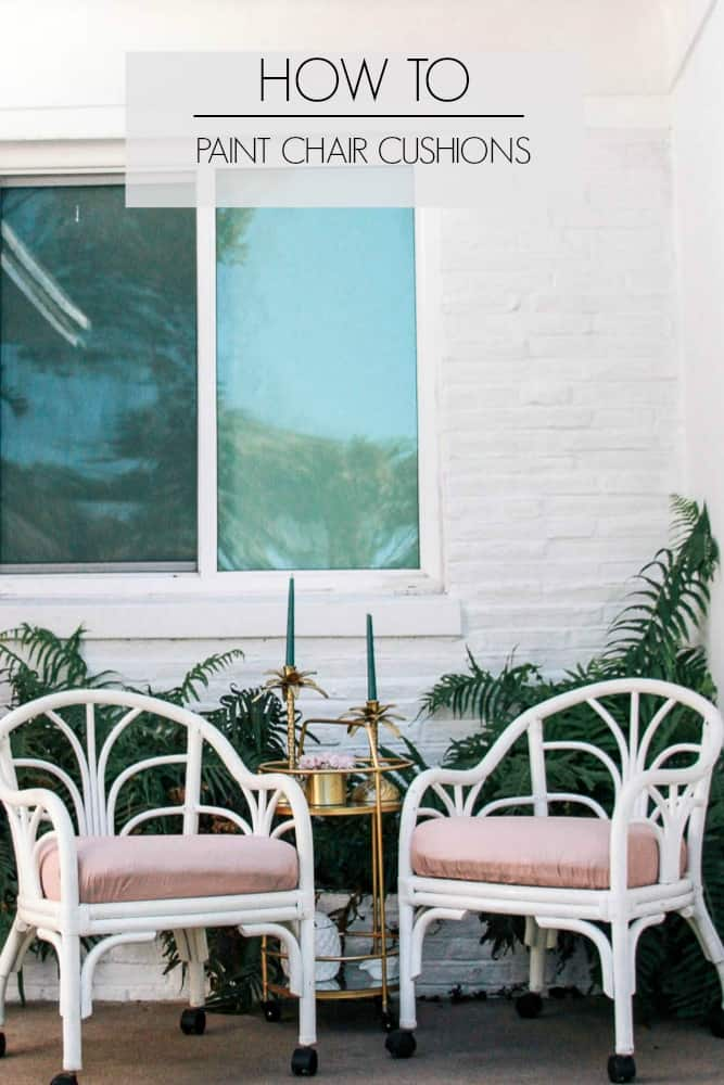 How To Update Chair Cushions With Chalk Paint At Home With Ashley