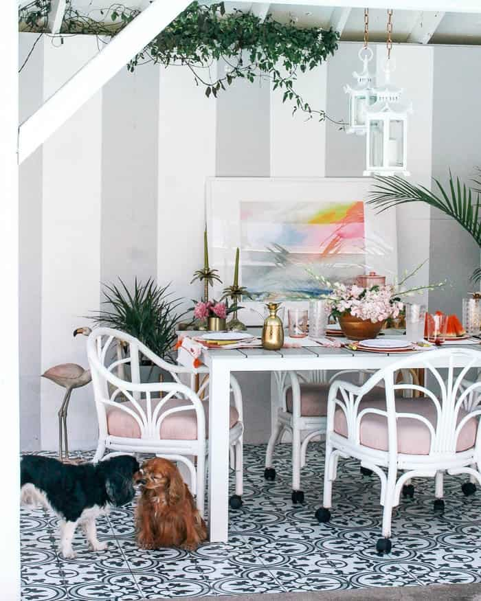 251 & Palm Beach Chic Patio Reveal! - at home with Ashley