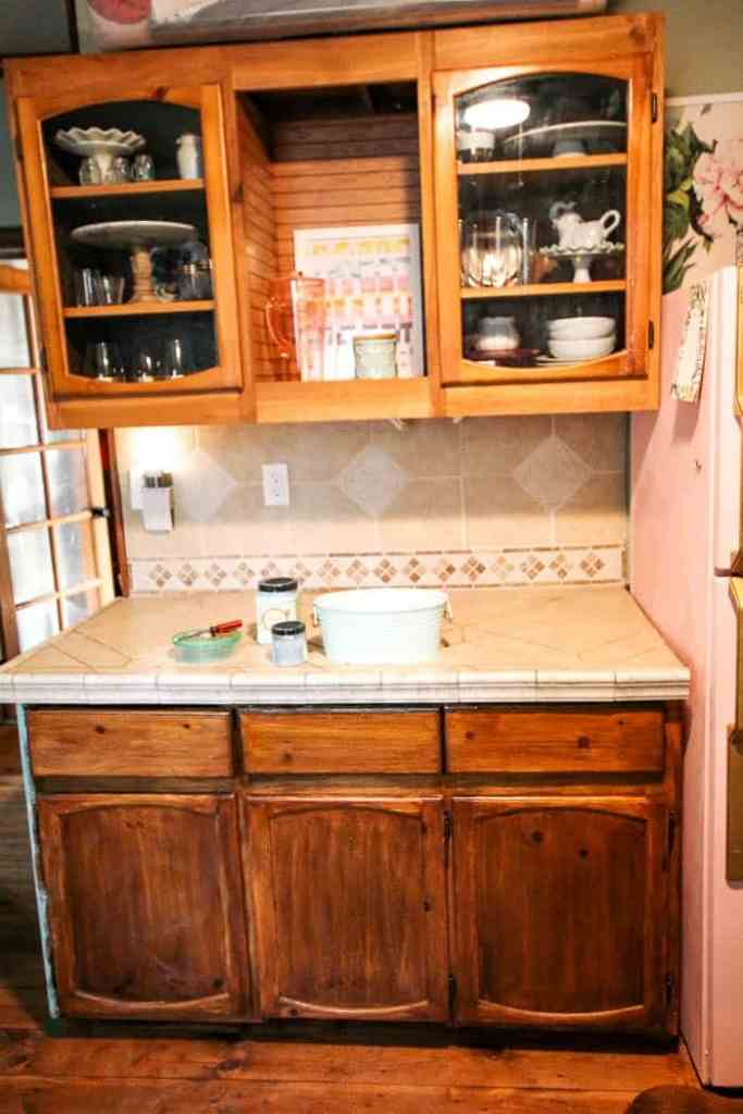 How To Wallpaper Cabinets At Home With Ashley