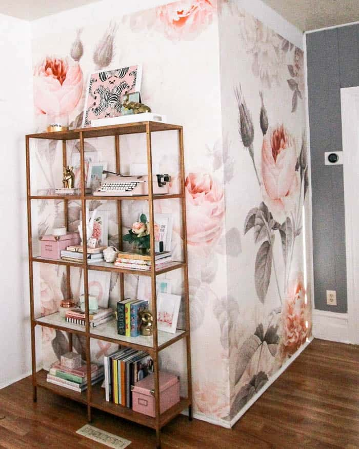 affordable floral mural. Are you looking for cute wallpaper for your baby's nursery, a bedroom, bathroom, or an accent wall? I have removable, vintage looking, modern, bright, and pink options!