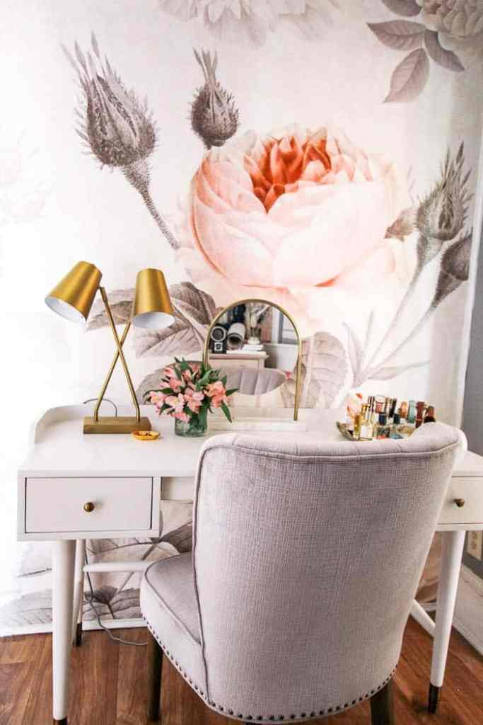 Master Bedroom Vanity and Chair - at home with Ashley