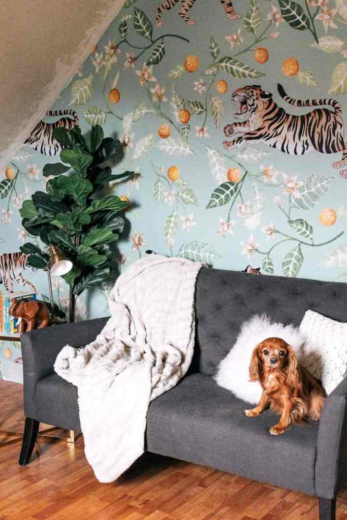 How to Install Removable Wallpaper - at home with Ashley