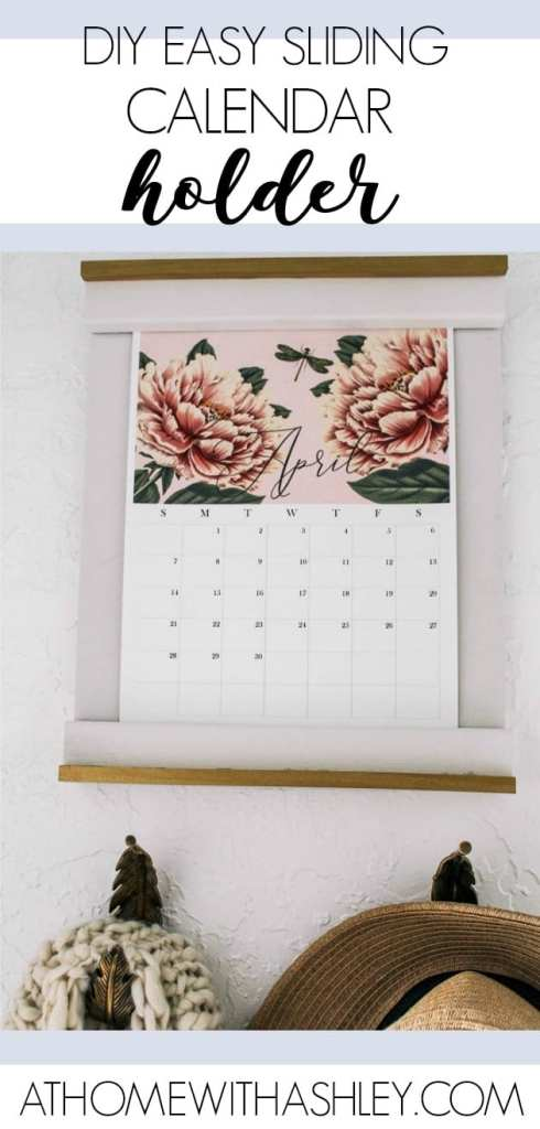 How to Make a DIY Calendar Holder + 2019 Free Calendar - at