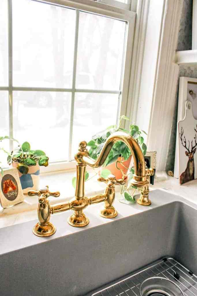 How to Upgrade your Kitchen Sink. Do you have a stainless steel sink you hate? Guess what- you can replace it with a large quartz sink that is deep and modern. And you don't have to do a full kitchen remodel! Here is a DIY tutorial so you can have the faucet and sink of your dreams with a quick makeover. If your sink is an overmount, you can change it to this drop-in option