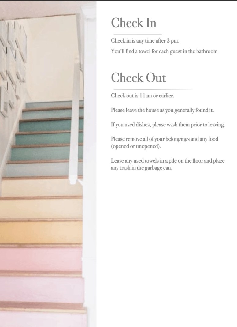 I'm about to open my home as an Airbnb to house guests! So I gathered some ideas for a welcome book and put them together, and I want to share them with you in a printable. If you're hosting an Airbnb, here's how to make an Airbnb welcome book with a free template. It includes how you can DIY your own welcome book! #airbnbwelcomebook #freewelcomebook