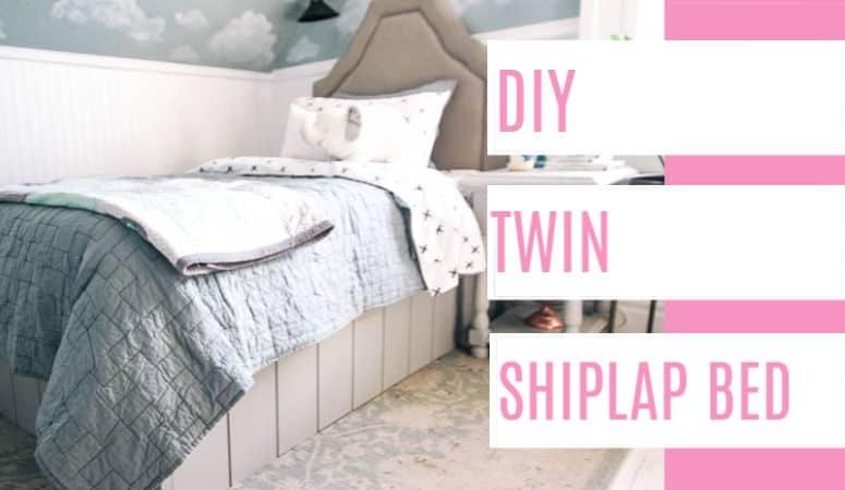 DIY Twin Shiplap Bed