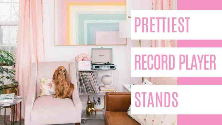 These record player stands will give you inspiration for your space! I put together a mix of small, vintage and modern to give you some ideas to go with any decor style. #1 is the one I have in my living room! #recordplayerstands