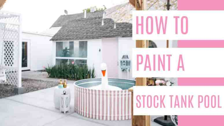 How To Paint A Stock Tank Pool At Home With Ashley