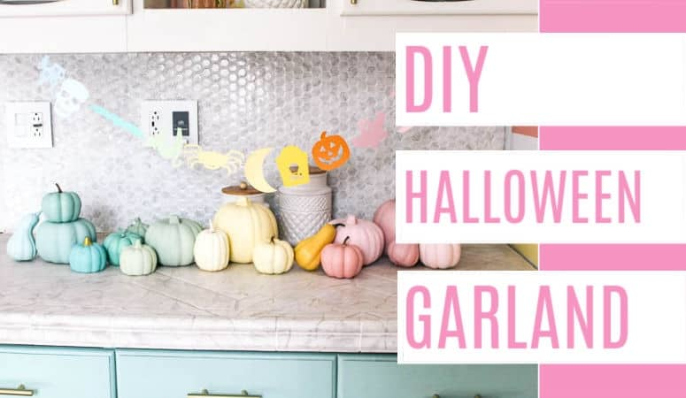 Diy Halloween Garland At Home With Ashley