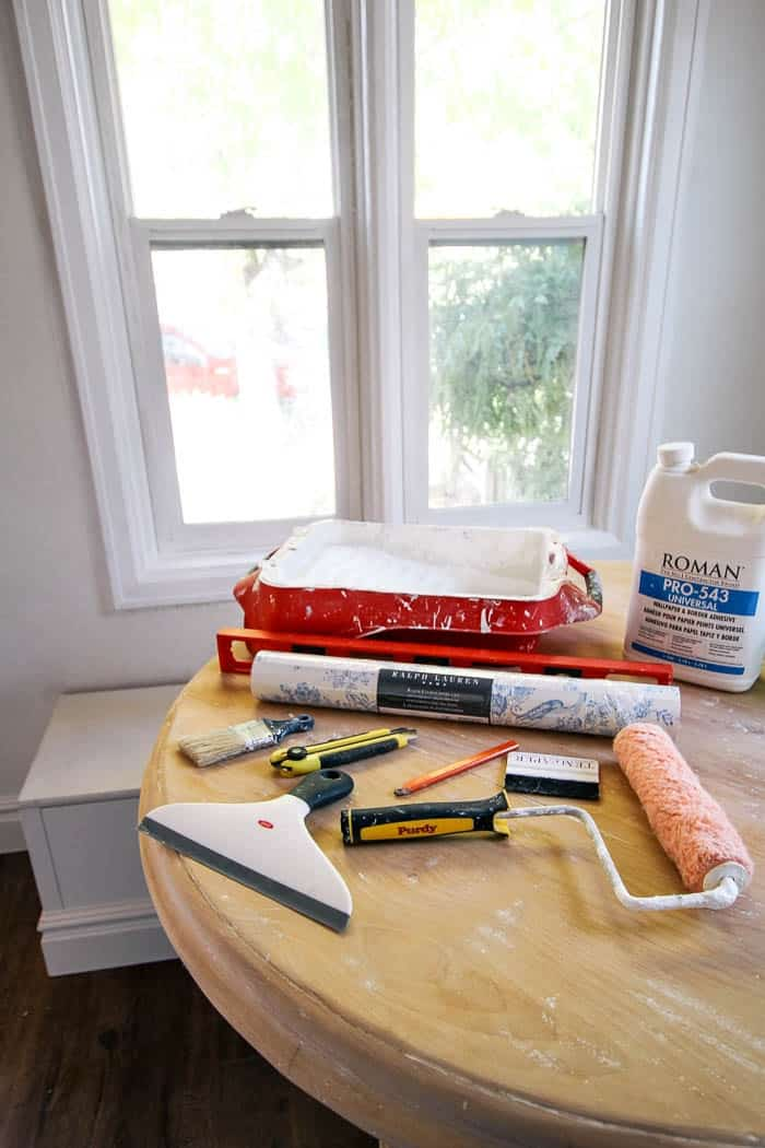 Wallpaper can bring so much beauty and character to a space. So, if you need a tutorial for how to install wallpaper, here's a simple DIY. Here I show you how to do it with adhesive, but you can also use it for removable wallpaper. #howtoinstallwallpaper #wallpapertutorial #wallpaperinstallationDIY