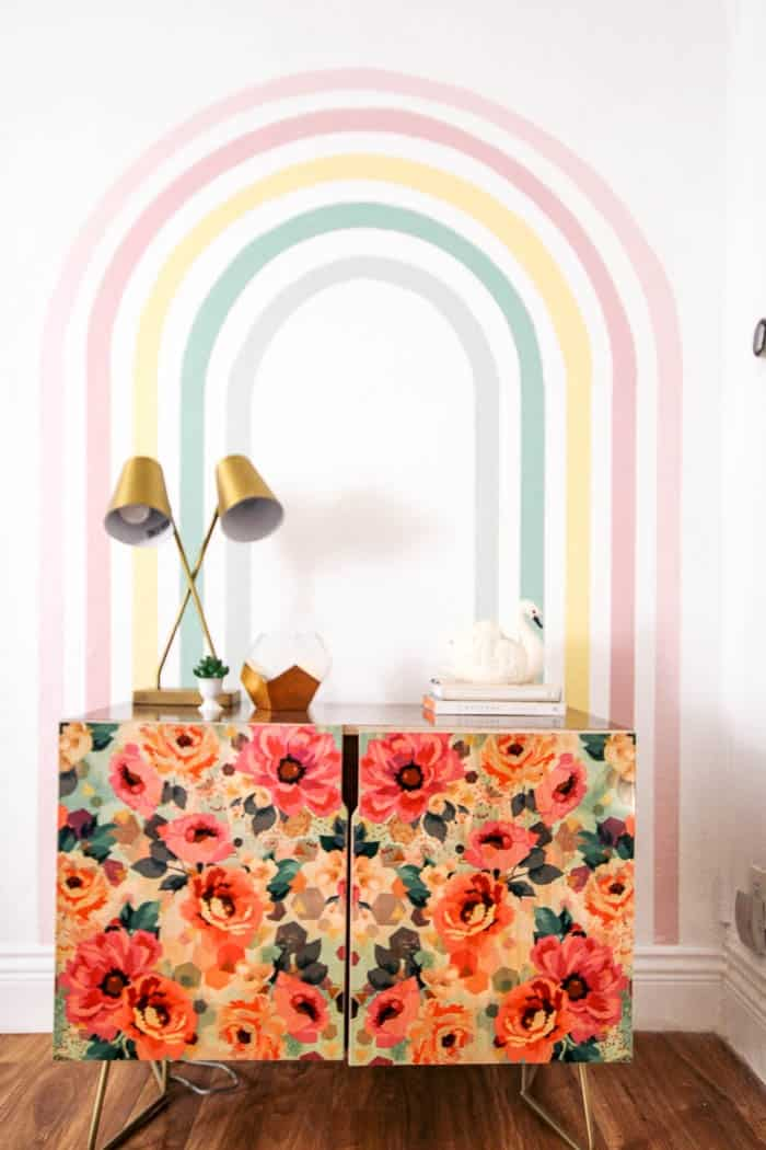 How To Paint A Rainbow Mural At Home With Ashley