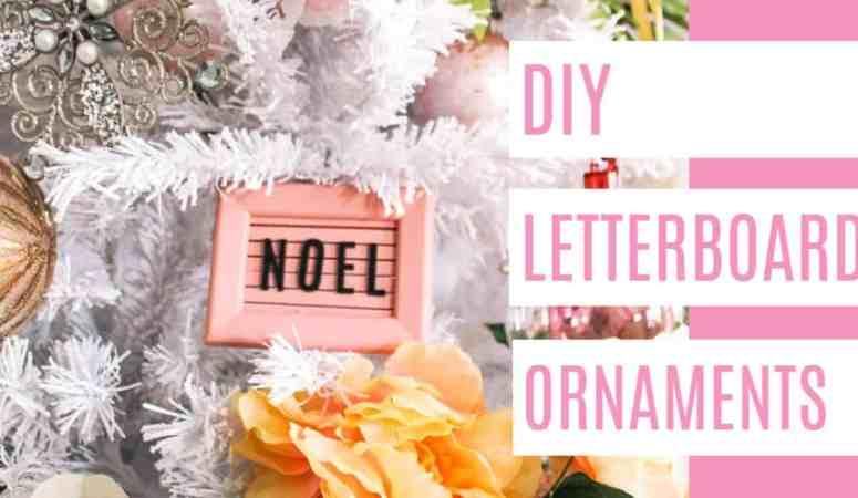 Mini Letterboard Ornament