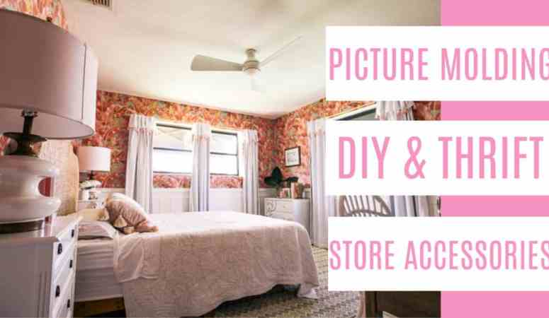 DIY Picture Molding and Thrift Store Accessory Flips