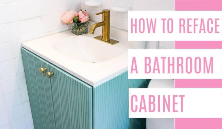 Fluted Bathroom Cabinet Refacing DIY