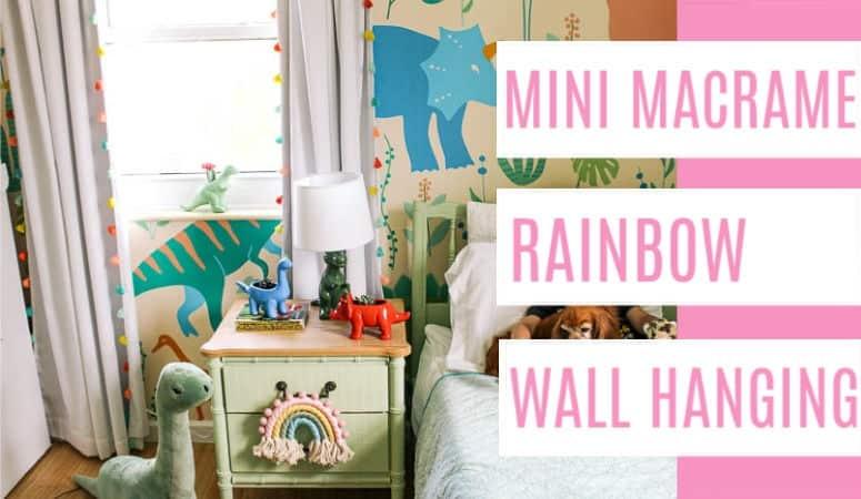 Mini Macrame Rainbow Wall Hanging