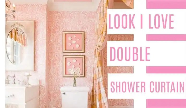 Looks I Love- Double Shower Curtain