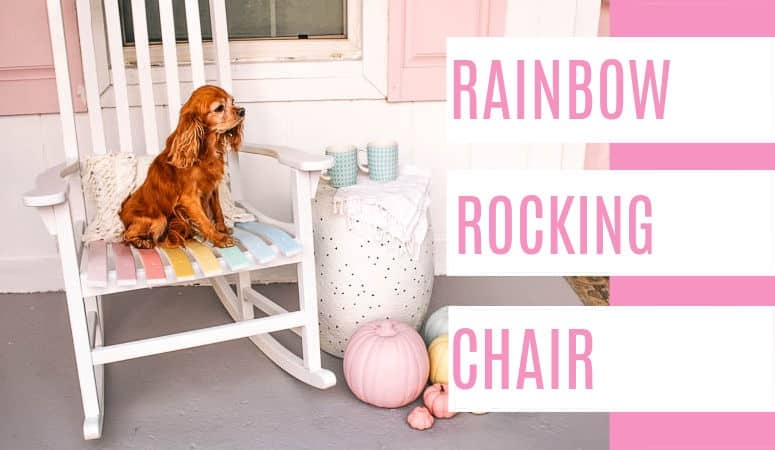How to Repair Furniture Scratches- Rainbow Rocking Chair