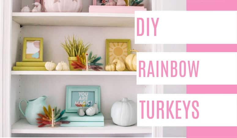 DIY Rainbow Turkey