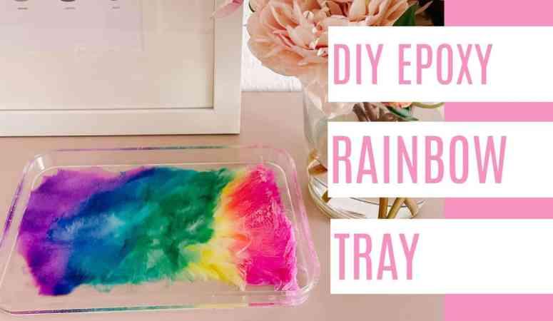 DIY Epoxy Rainbow Tray