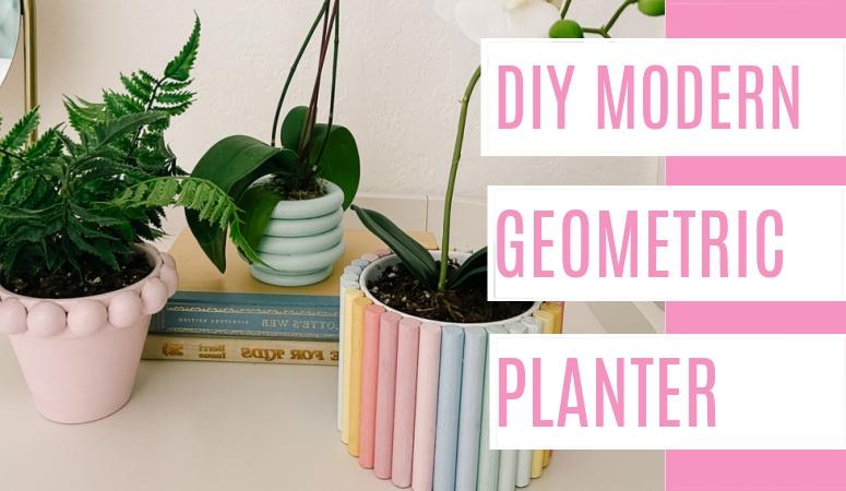 DIY Geometric Modern Planters