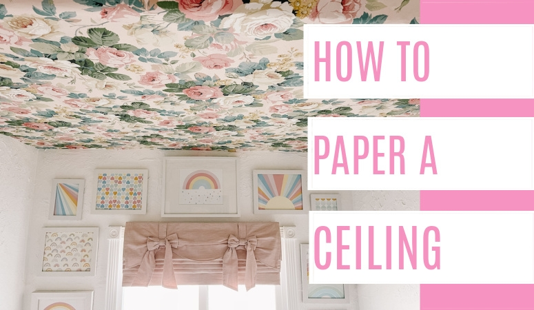How to Paper a Ceiling by Yourself