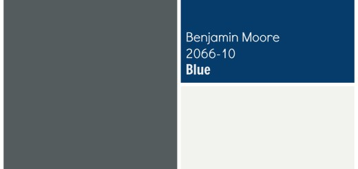 Exterior House Paint Color Palette Scheme Benjamin Moore Flint, Blue, Super White